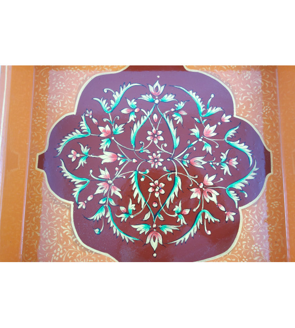 PAINTED  TRAY JAIPUR STYLE 18x8 INCH