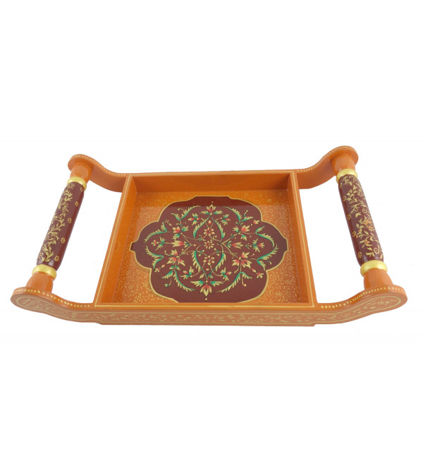 PAINTED TRAY JAIPUR STYLE 16x8 INCH