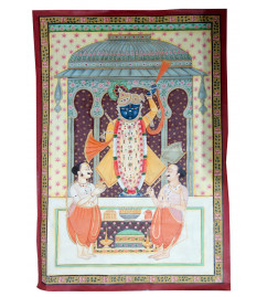 HANDICRAFT ASSORTED PICHWAI COTTON PAINTING  24X26 INCHES