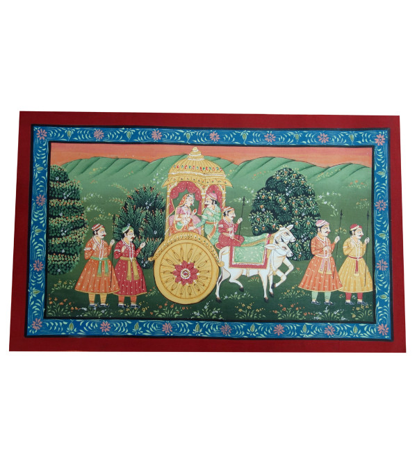 HANDICRAFT ASSORTED PICHWAI COTTON PAINTING 12X18 INCHES