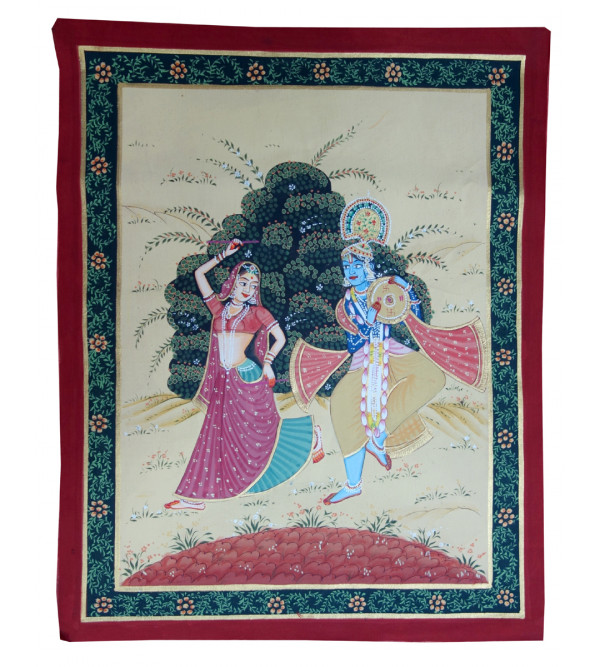 HANDICRAFT ASSORTED PICHWAI COTTON PAINTING 12X15 INCHES