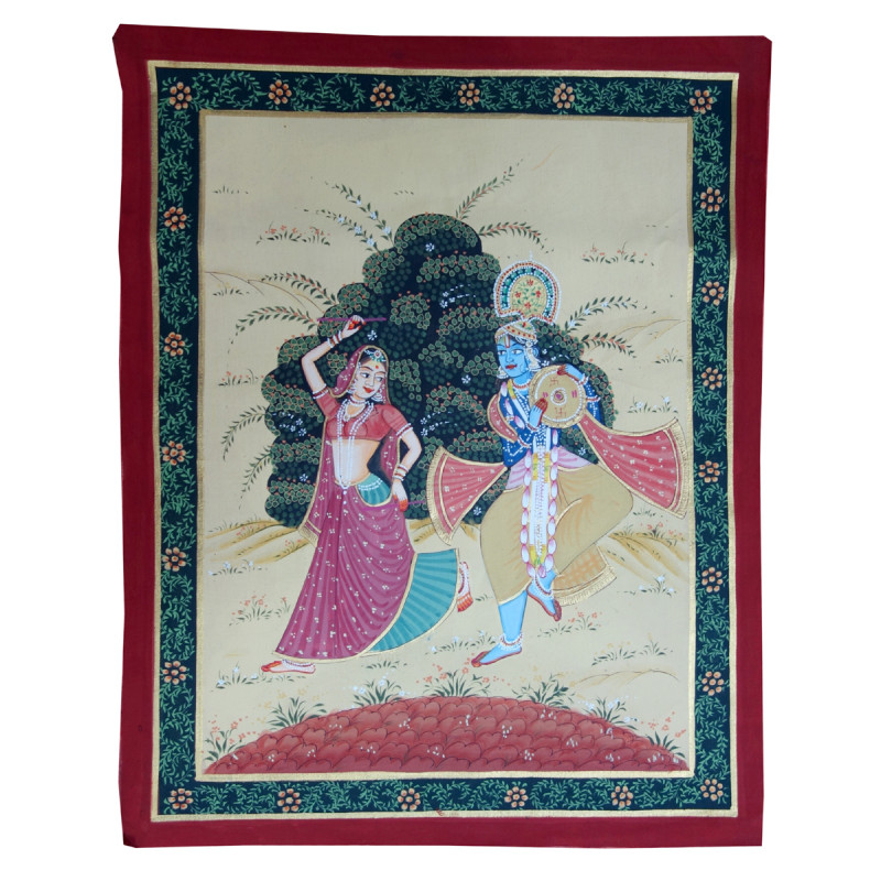 Handmade Assorted Pichwai Cotton Painting 12x15 Inch