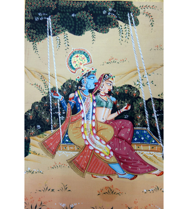 HANDICRAFT ASSORTED PICHWAI COTTON PAINTING 9X12 INCHES