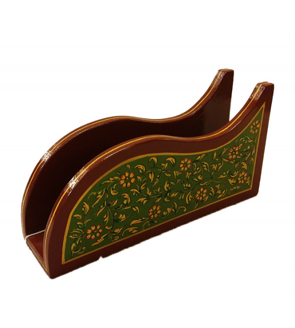 Wooden Handcrafted and Hand painted Napkin Stand
