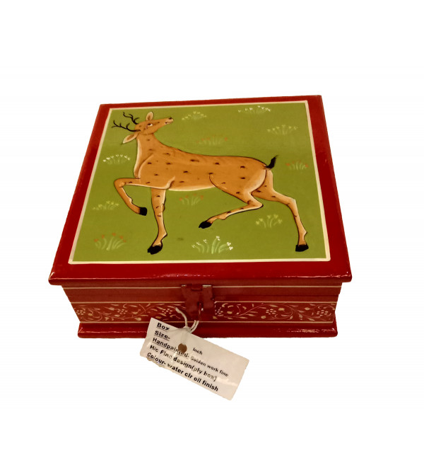 WOODEN BOX 6 x6 inch ass design