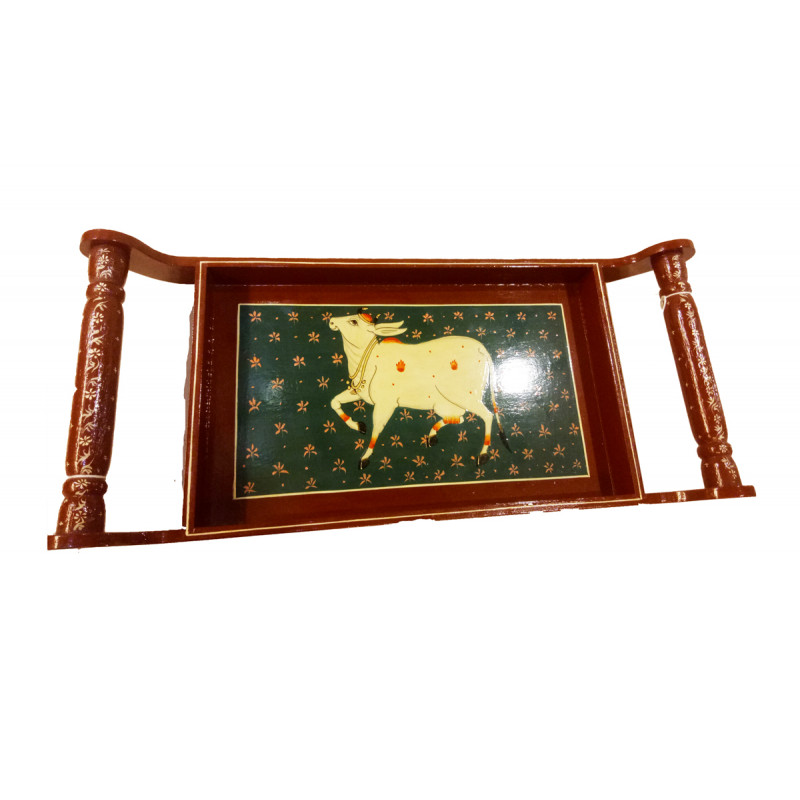 Wooden Hand Painted Tea Tray