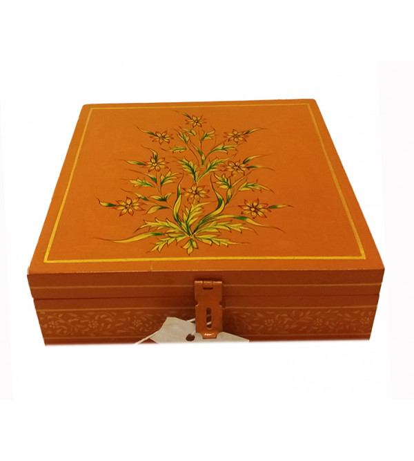 Wooden Jaipur Style Handcrafted and Hand Painted Box