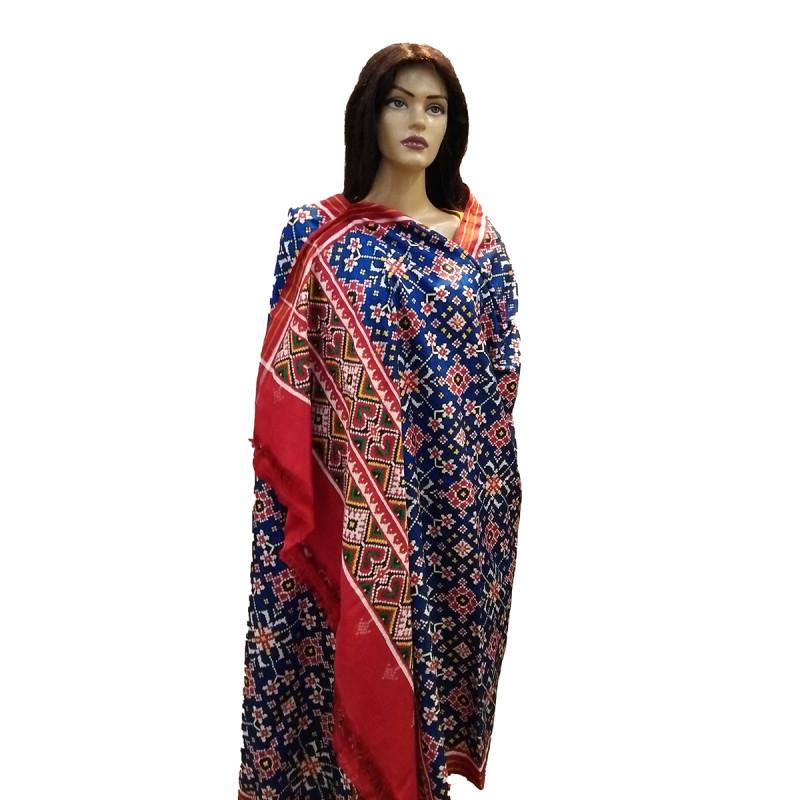 Patan Patola Handwoven Dupatta From Gujarat