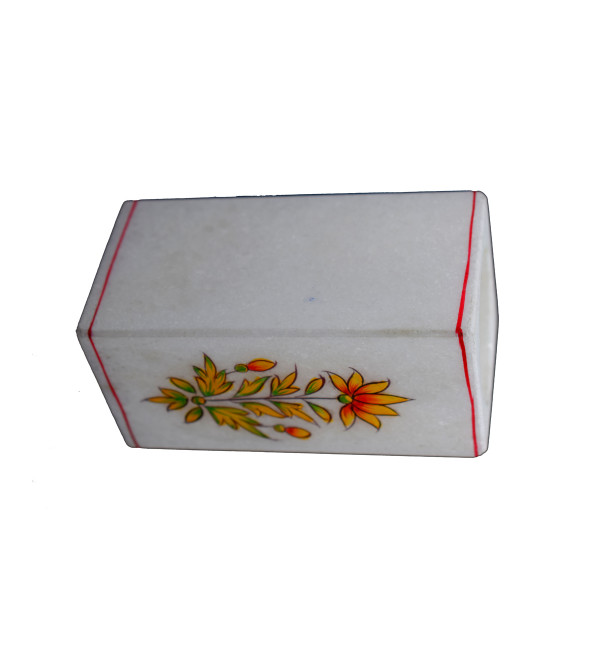 PEN STAND MARBLE INLAY   squre