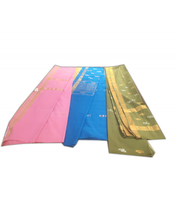 Andhra Pure Cotton Handwoven Saree Without Blouse