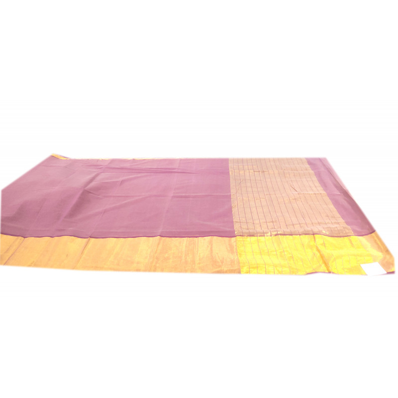 Andhra Pure Cotton Hand woven Saree Without Blouse