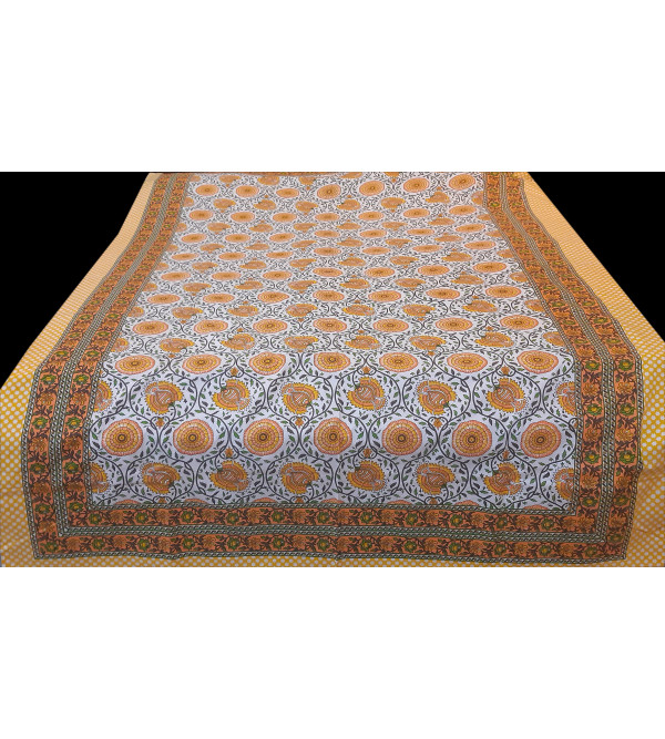 Block Printed Cotton Bedcover  Size 60x90 Inch