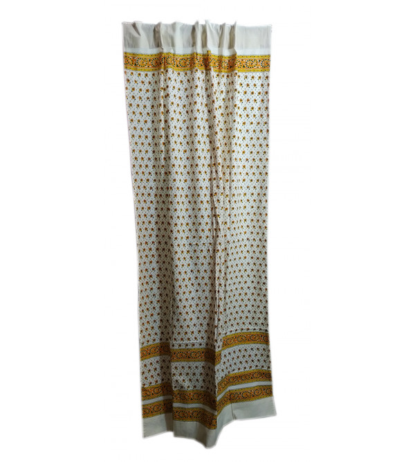 Printed Cotton Handwoven Curtain Size 44x84 Inch