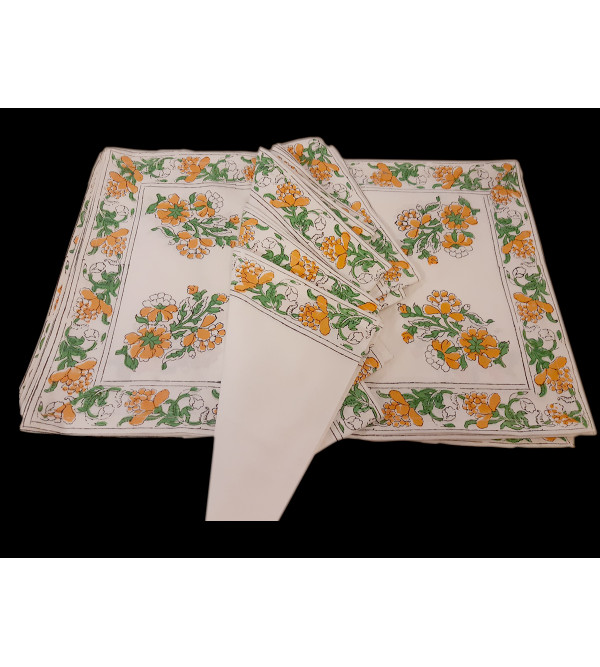 Cotton Block Printed Table Placemat Size 13x19 Inch