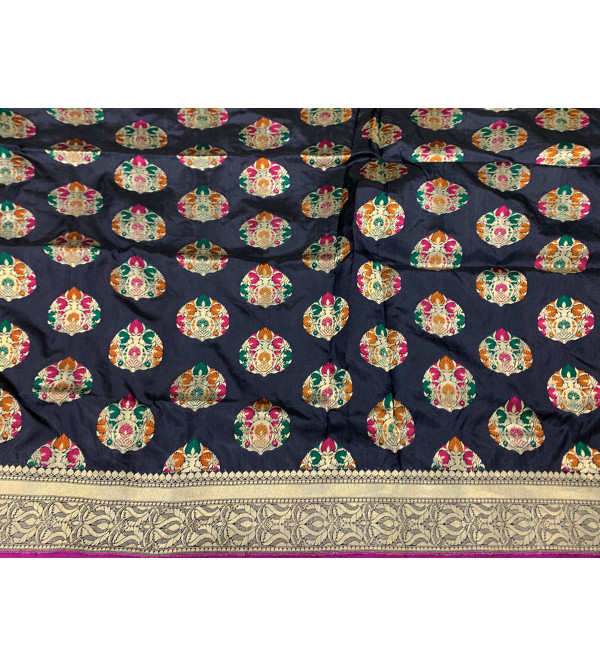Banaras silk zari buta HANDLOOM SAREE with blouse