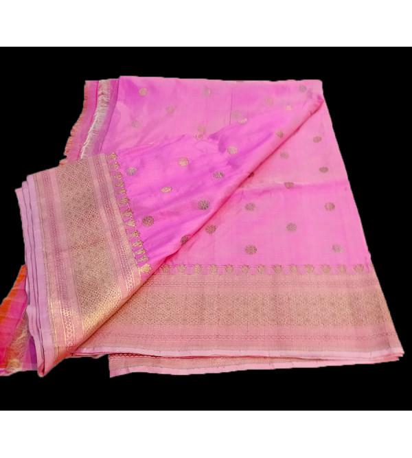 Katan Silk Handwoven Dupatta from Banaras