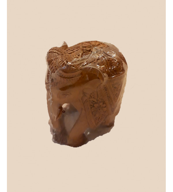 ELEPHANT CARVED SANDALWOOD 2 INCH