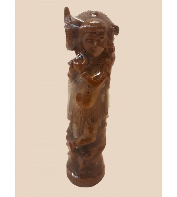 Sandalwood Handcrafted Carved Standing Lord Krishna Figure