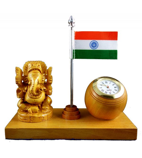 GANESHA WITH WATCH kadam wood