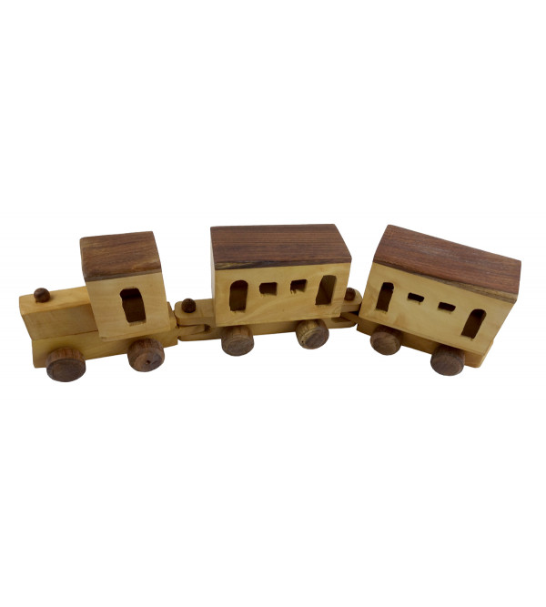 HANDICRAFT WOODEN TOYS TRAIN 12x2x2 INCH
