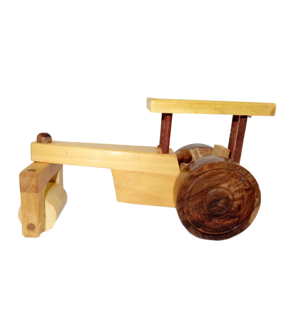 HANDICRAFT WOODEN TOYS ROAD ROLLER 8x2.5x2.5 INCH