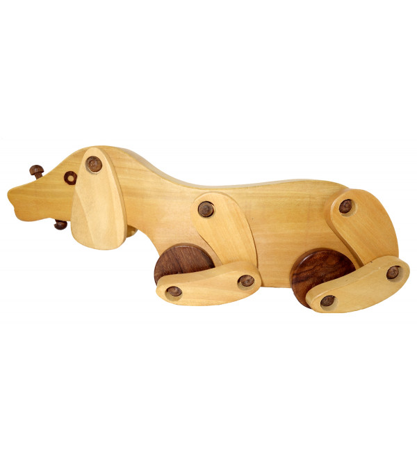 HANDICRAFT WOODEN TOYS DOG 10x2.5x2.5 INCH