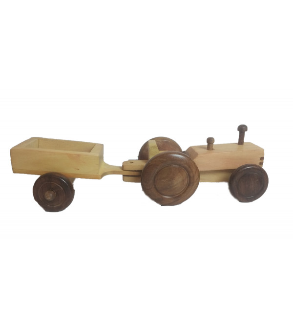 Handcrafted Wooden Tractor Size 8x2.5x2.5 Inch