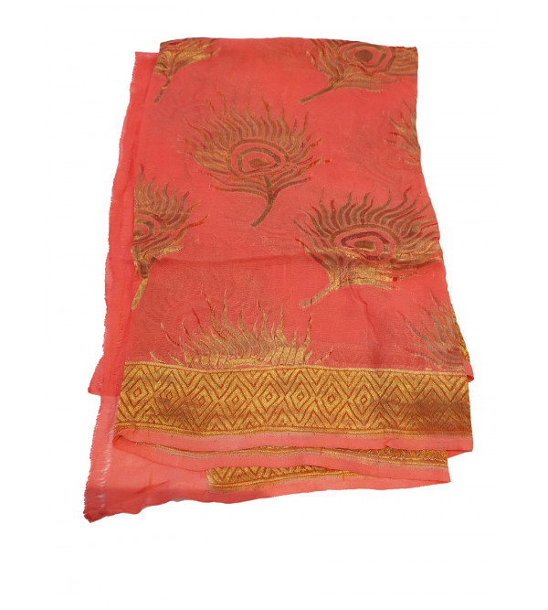 Georgette Silk Handwoven Dupatta from Banaras