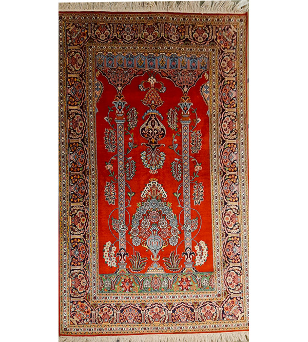 Kasmir Carpet Hand-Knotted SilkxCotton 4ftx6ft