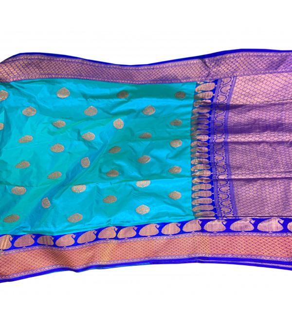Sarees Zari Katan Silk Banaras with Blouse