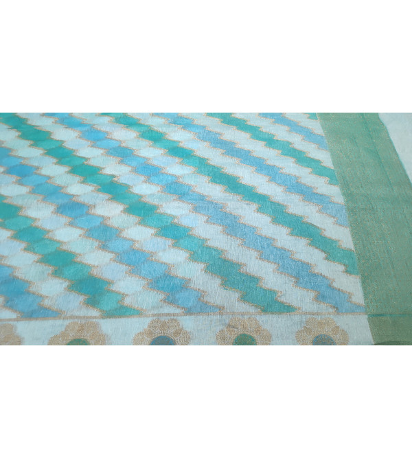 Cotton Handloom Banaras Zari Saree with Blouse