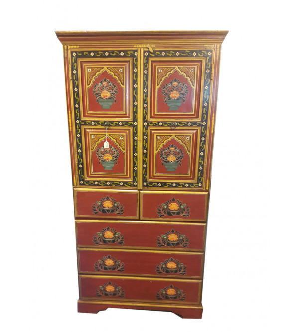 HAND PAINTED CABINET S-35x17x70 inch.