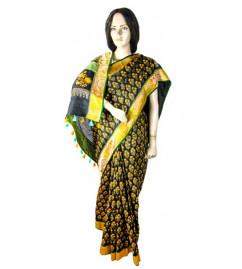 Matka Silk Saree Languishing Size 6.5 M With Blouse  Border Fusion
