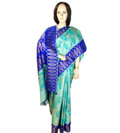 Tussar Silk Saree with Blouse Border Fusion