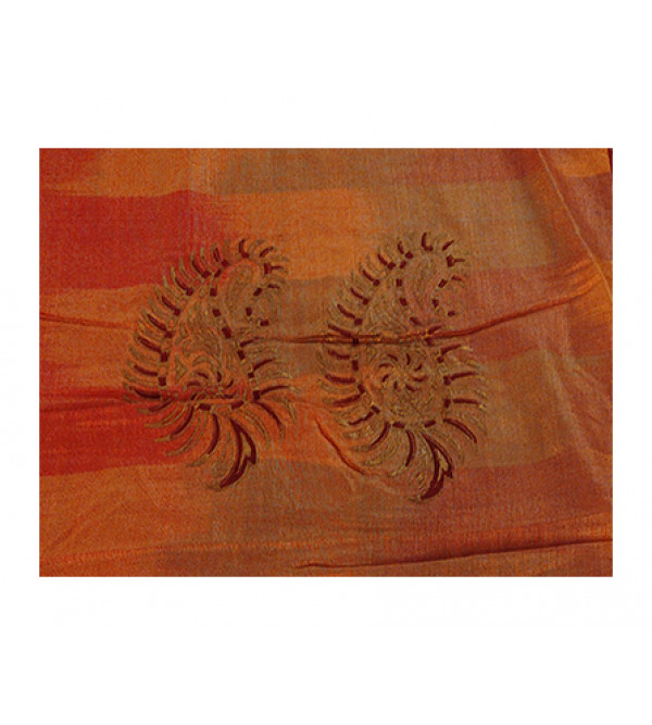 Silk Block Printed  Cushion Cover Size 16x16 Inch