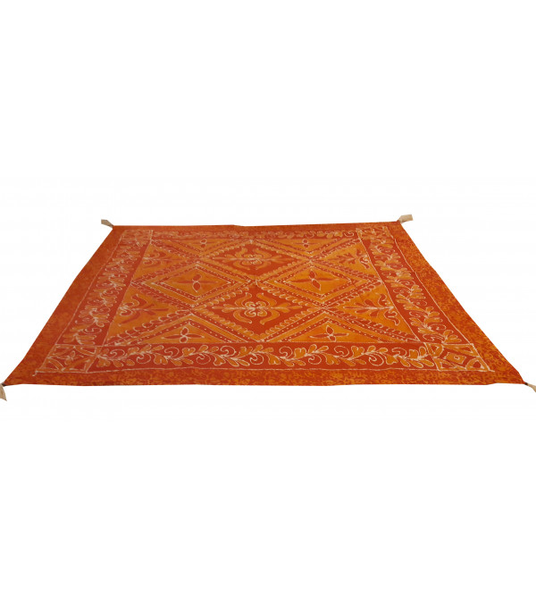 Cotton Batik Hand Block Printed Table Cover Size 60x60