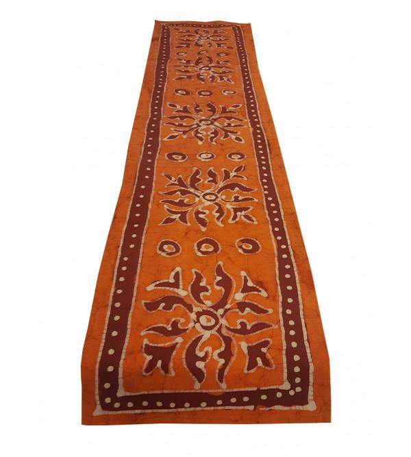 Cotton Batik Hand Block Printed Runner Size 13x60 Inch