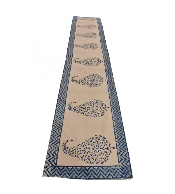Cotton Batik Hand Block Printed Runner Size 13x72 Inch