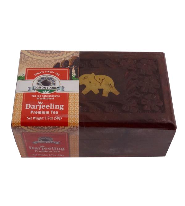 DARJEELING PREMIUM TEA 50 GMS WOODEN BOX