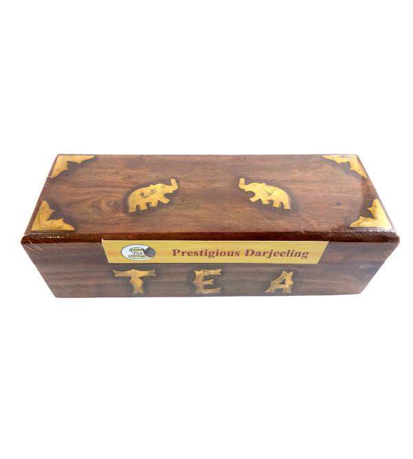 PRESTIGIOUS DARJEELING TEA 100 GMS WOODEN BOX