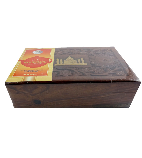 DARJEELING FINE BLACK TEA 150 GM WOODEN BOX