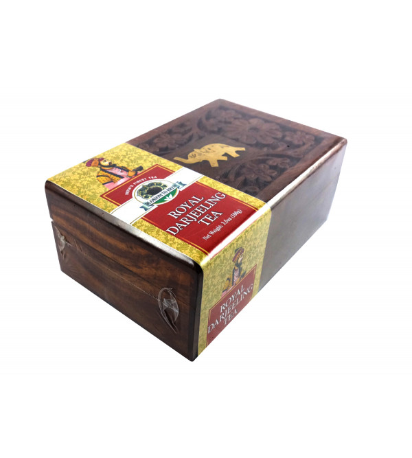 ROYAL DARJEELING TEA 100 GM WOODEN BOX