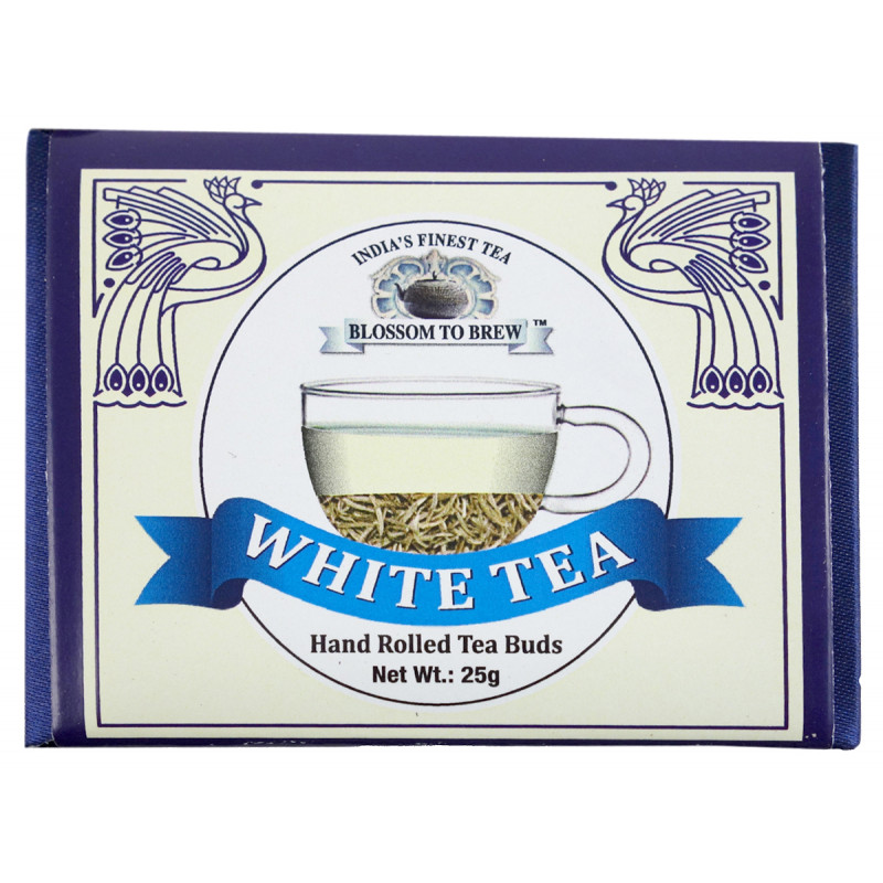WHITE TEA 25 GM SILVER PAPER PACKING