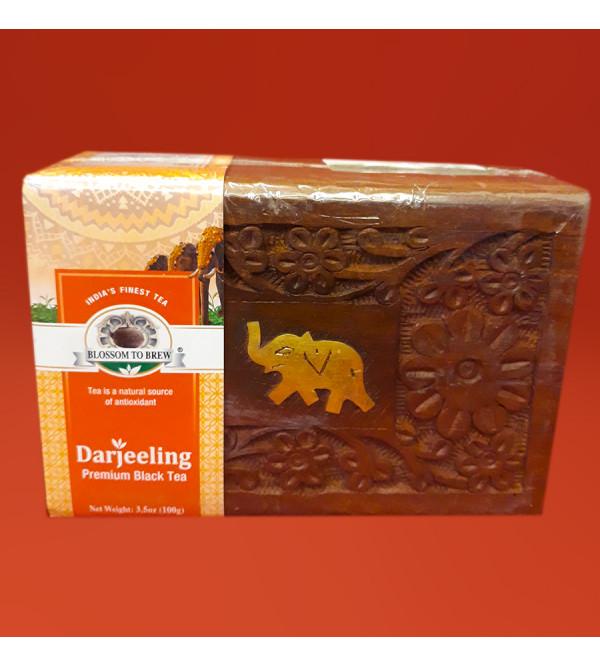 Darjeeling Premium Tea In Wooden Box 100gm