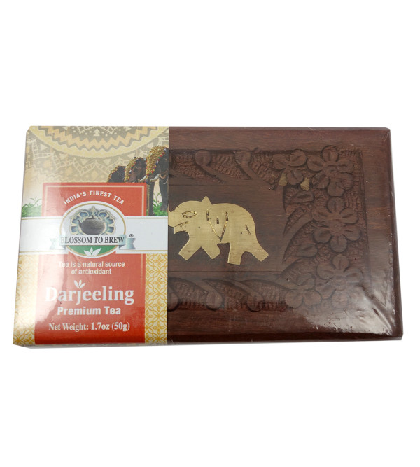 DARJEELING PREMIUM TEA 50 GMS WOODEN BOX
