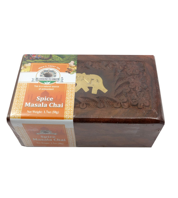 Spices Chai 50 Gms Wooden Box