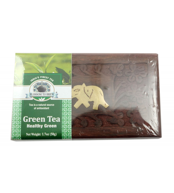 Healthy Green Tea 50 GM Wooden Box