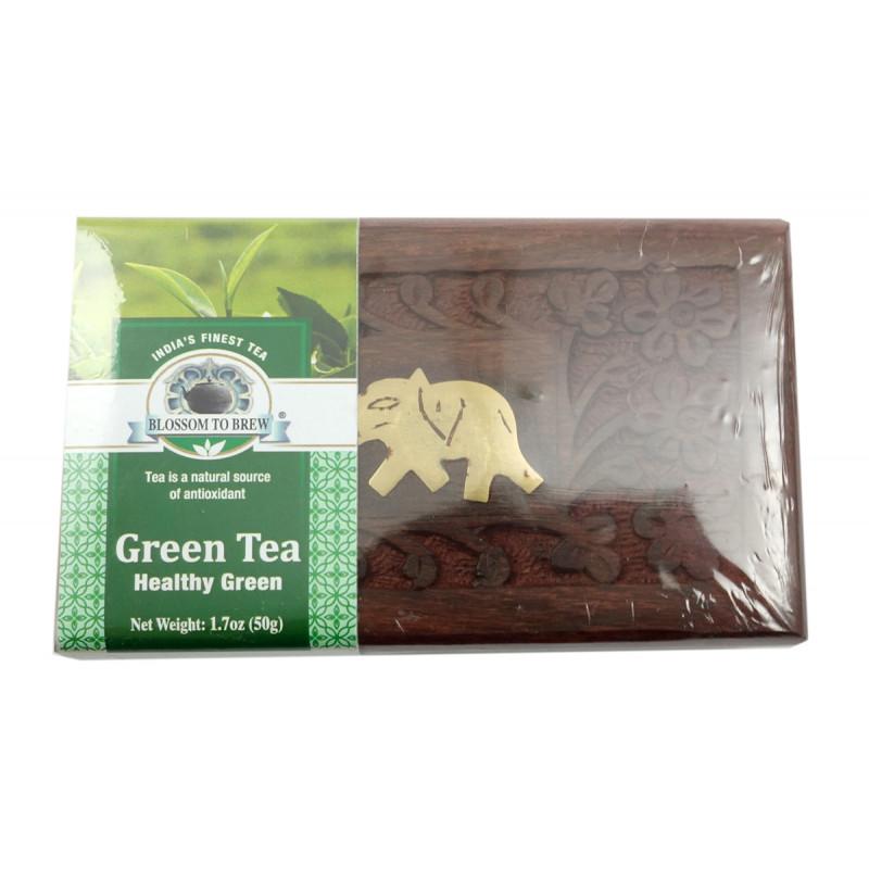 Healthy Green Tea 50 GM Wooden Box