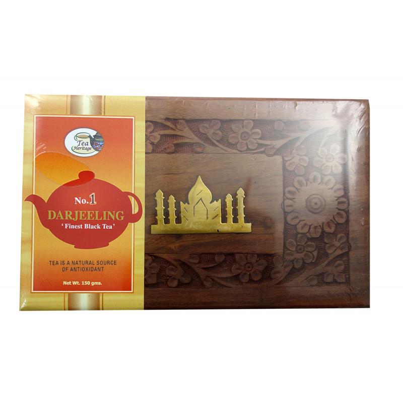 NO 1 Darjeeling Fine Black Tea 150 GM Wooden Box