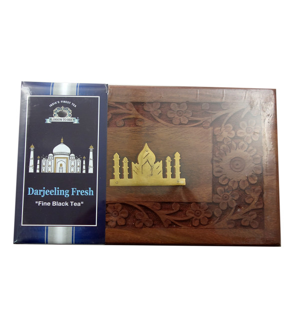 Darjeeling Fresh Tea 150 GM Wooden Box